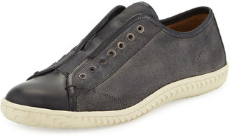 John Varvatos Star Laceless Low-Top Sneaker, Coal $179 thestylecure.com