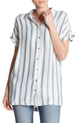 Dress Forum Short Sleeve Striped Collar Shirt