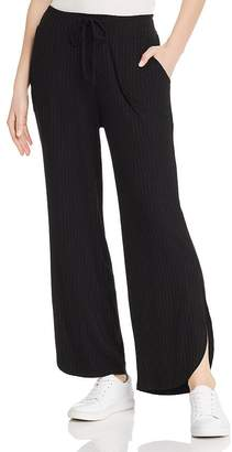 LnA Ribbed Wide-Leg Pants