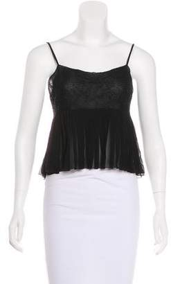 Chanel Lace-Accented Sleeveless Top