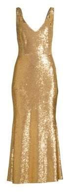 Rachel Zoe Lola Sequin Flounce Midi Dress
