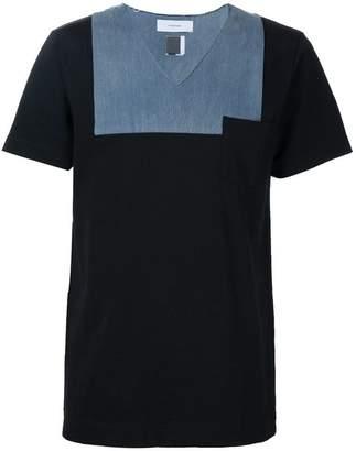 Facetasm denim detail T-shirt