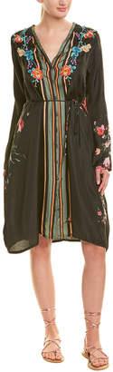 Johnny Was Silk Midi Dress