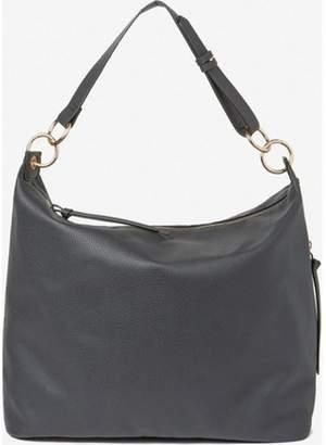 Dorothy Perkins Womens Black Double Ring Hobo Bag