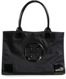 Tory Burch Ella Mini Faux-Leather Tote
