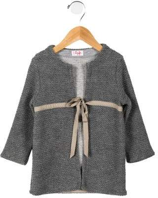 Il Gufo Girls' Open Front Coat