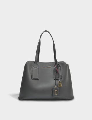 Marc Jacobs The Editor Bag in Graphite Split Cow Leather with Polyurethane Coating