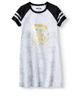 Harry Potter 'Hogwarts Gold Crest' Short Sleeve Raglan Pajama Nightgown (Little Girls & Big Girls)