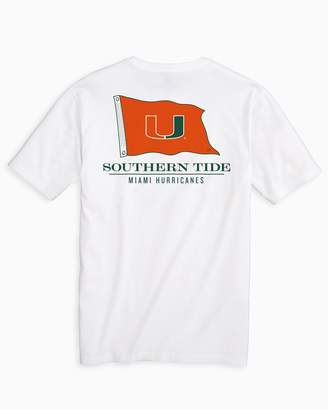 Southern Tide Gameday Nautical Flags T-shirt - University of Miami