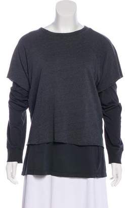 Monrow Layered Long Sleeve Top