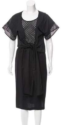 Tome Cutout Mesh-Accented Dress w/ Tags