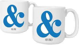 Personalized Gifts Ampersand Large Coffee Mugs (Set of 2)