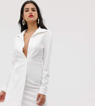 Asos Tall DESIGN Tall sexy drape bodycon shirt dress