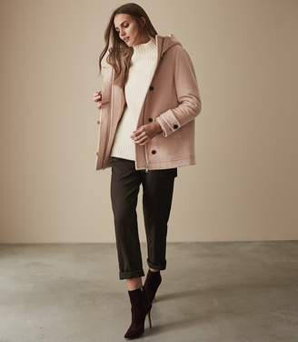 Reiss MARLOWE HOODED COAT Blush Pink