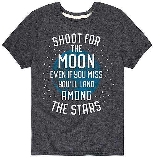 Heather Charcoal 'Shoot for the Moon' Tee - Toddler & Kids