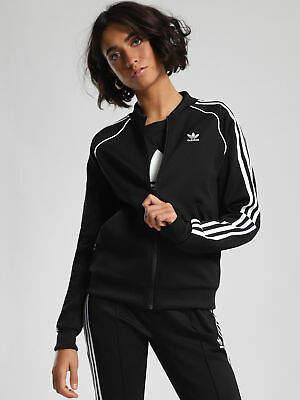 adidas New Womens Superstar Track Jacket In Black Jackets Athletics