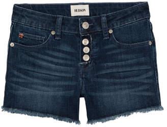 Hudson Girls' Luna Raw-Edge Denim Shorts, Size 7-16