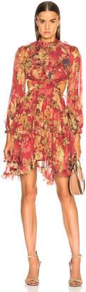 Zimmermann Melody Lace Up Short Dress