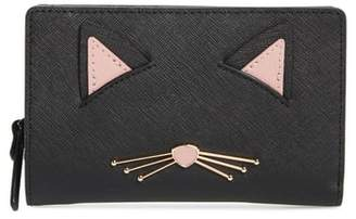 Kate Spade Cats Meow Dara Leather Wallet