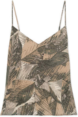 L'Agence Jane Printed Silk-satin Camisole - Gray