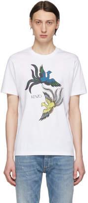 Kenzo White Flying Phoenix T-Shirt
