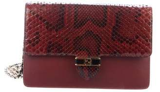 Fendi Snakeskin Chain Wallet Crossbody Bag w/ Tags black  Snakeskin Chain Wallet Crossbody Bag w/ Tags