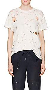 NSF Women's Moore Distressed Cotton T-Shirt - White