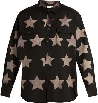 SAINT LAURENT Star-print cotton-blend shirt $755 thestylecure.com