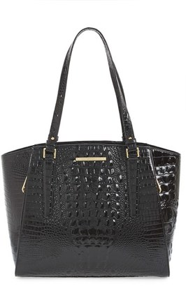 Brahmin 'Paris' Croc Embossed Leather Tote - Black $365 thestylecure.com