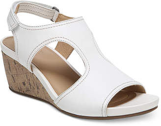 dfebb98442c1 Naturalizer White Platform Heel Women s Sandals - ShopStyle