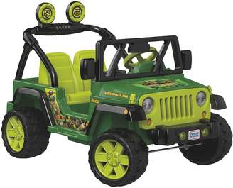 Fisher-Price Power Wheels Teenage Mutant Ninja Turtles Jeep Wrangler by