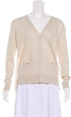 Gerard Darel Wool Long Sleeve Cardigan