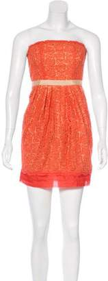 Mcginn Strapless Lace Mini Dress w/ Tags