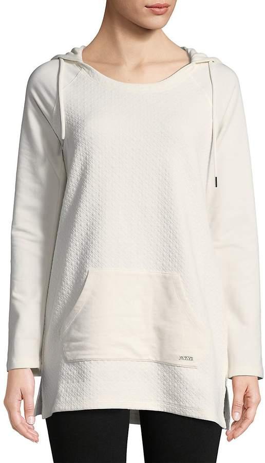Women's Raglan-Sleeve Textured Hoodie