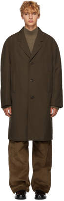 Lemaire Brown Chesterfield Coat
