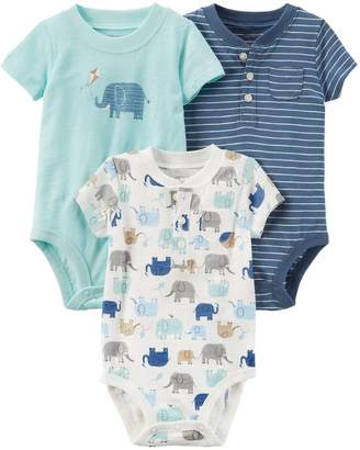 Carter's Baby Boy 3-pk. Short Sleeve Bodysuits