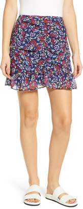 The Fifth Label Ruched Floral Print Miniskirt