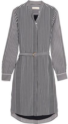 MICHAEL Michael Kors - Corsican Striped Chiffon Shirt Dress - Black $155 thestylecure.com