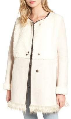 Women's Sam Edelman Faux Shearling Car Coat