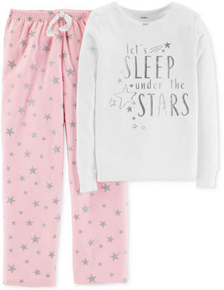 Carter's Little & Big Girls 2-Pc. Under The Stars Pajama Set