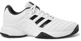 adidas Sport Barricade 2018 Rubber-Trimmed Mesh Tennis Sneakers