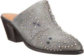 Frye & Co. & co. Distressed Leather Studded Mules - Phoenix
