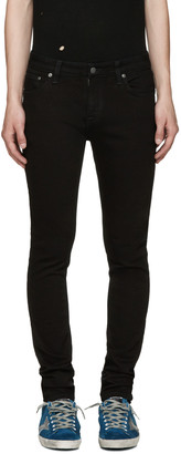 Nudie Jeans Black Skinny Lin Jeans $165 thestylecure.com