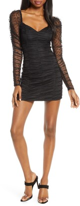 Finders Keepers Palermo Long Sleeve Ruched Minidress