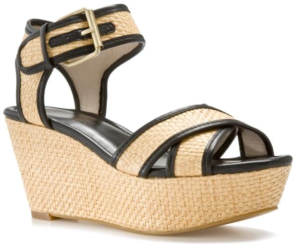 MRKT Dita Wedge Sandal - Natural/Black