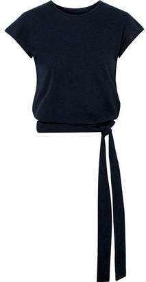 Live The Process Knotted Cotton And Cashmere-blend Top