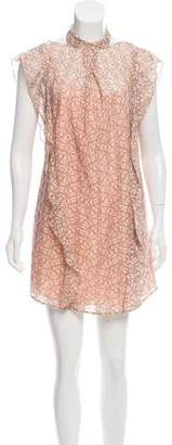 Marissa Webb Lace Ruffled Mini Dress