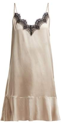 Icons Jasmin Lace Trim Camisole Dress - Womens - Beige