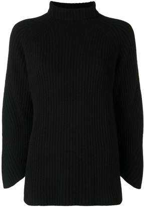 Philo-Sofie cropped sleeve turtleneck sweater