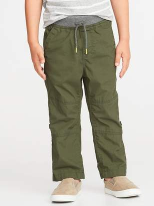 Old Navy Rib-Waist Poplin Roll-Up Pants for Toddler Boys
